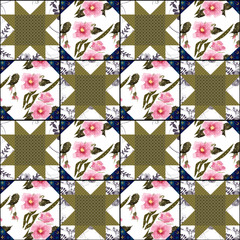Patchwork bright abstract pattern texture geometric background