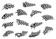 Racing sport checkered flag icons - 72494154