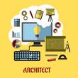 Zdjęcia na płótnie, fototapety, obrazy : Architect or education concept