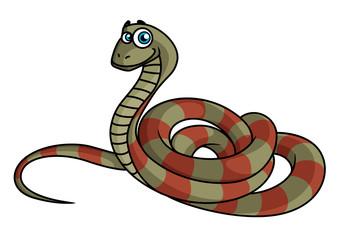 Cartoon striped snake