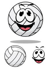 Happy cartoon volleyball