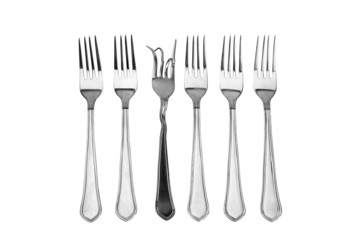 The concept of a set forks on nutrition and diet.