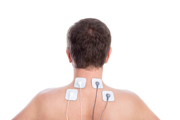 Electrostimulator for physiotherapy neck and back pain.