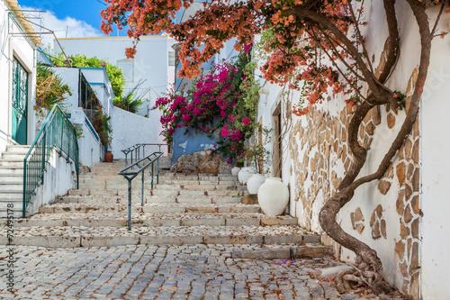 Foto op Plexiglas Oude gebouw Ancient street village Estoi. Portugal, Faro.