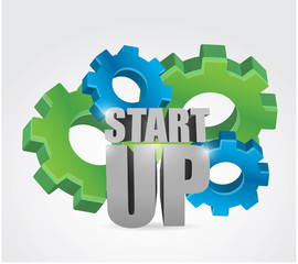 start up under construction gears