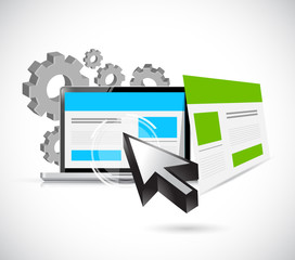 seo web responsive site illustration