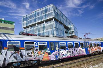 Suburban train in Zagreb