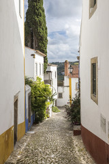a street in Obidos town - Portugal