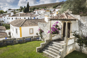 Obidos town in the Oeste Subregion of Portugal