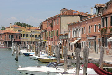 Tyical view of the little island of Murano, Venice
