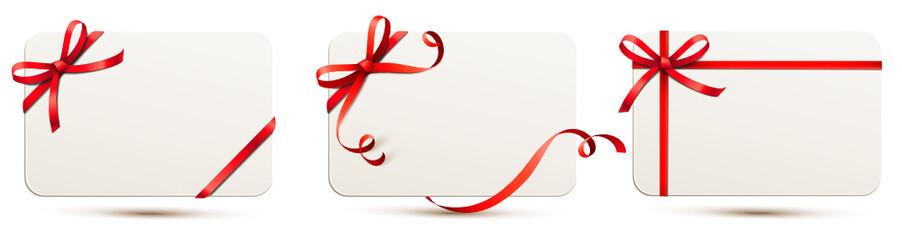 Karten Set mit roter Schleife