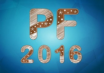 New year 2016 wish card vector illustration