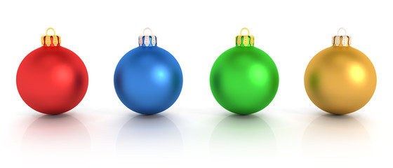 Four Colorful Christmas Balls - Shot 1
