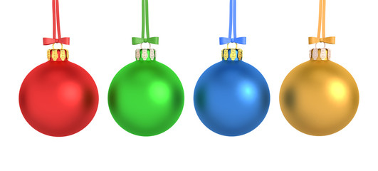 Four Colorful Christmas Balls - Shot 2