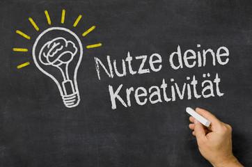 Nutze deine Kreativität