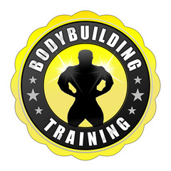bbb7 BodyBuildingButton - fnb - Bodybuilding - gelb - g2403