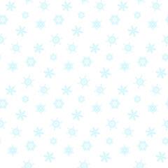 Seamless blue snowflakes
