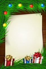 Merry Christmas wish card with space for picture and text