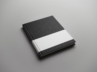 black book with white strip