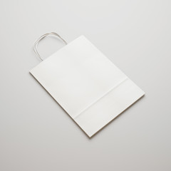 blank paper bag with handles
