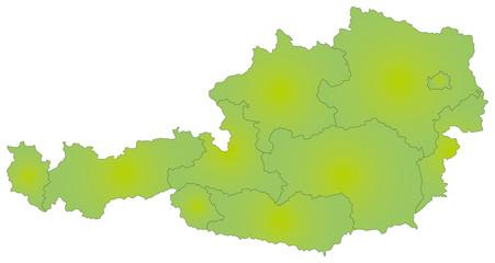 オーストリアの地図