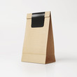 Brown vintage  paper bag with black sticker - 72499166