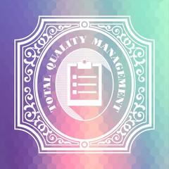 Total Quality Management. Pastels Vintage Design Concept.