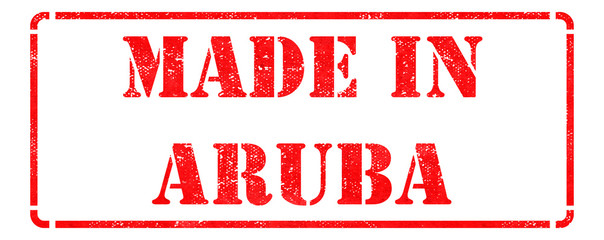 Made in Aruba on Red Stamp.