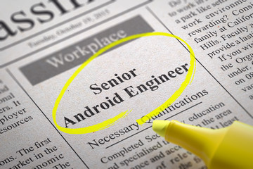 Senior Android Engineer Vacancy in Newspaper.