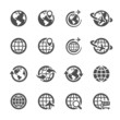 global communication icon set, vector eps10