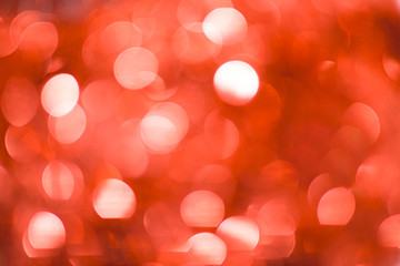 Christmas Bokeh Background: Red. Stock Image.