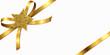 Goldene Schleife mit Glitter-Stern