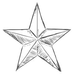 Vector Sketch Star