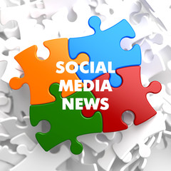 Social Media News on Multicolor Puzzle.