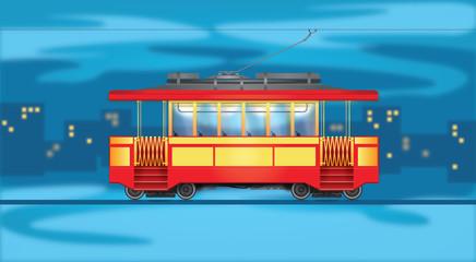 City transport. Tram