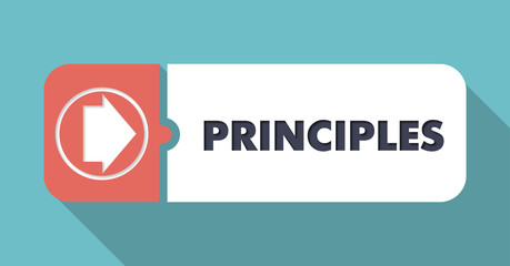 Principles on Scarlet in Flat Design.