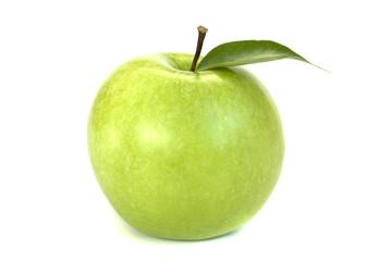 Яблоко с листочком