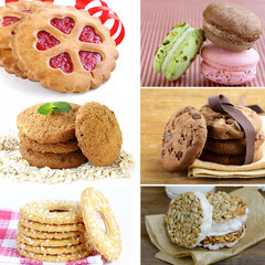 collage of different kinds of sweet cookies