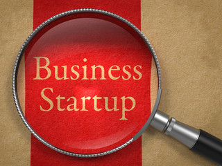 Business Startup through Magnifying Glass.