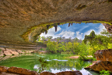 Hamilton Pool sink hole, Texas, USA
