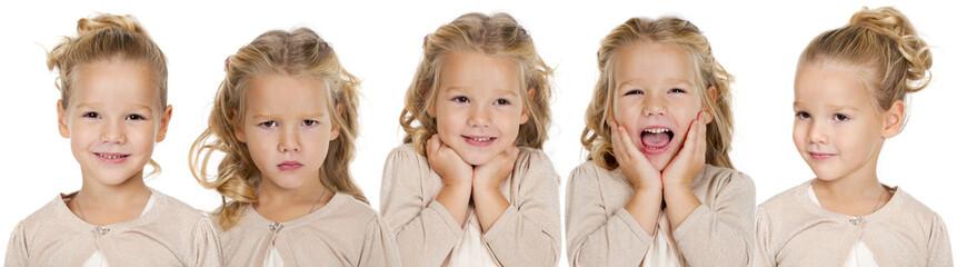 Portrait of a pretty liitle girls
