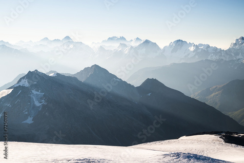High mountain in morning time. Beautiful natural landscape - 72501918
