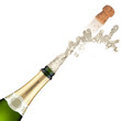 canvas print picture - Champagne bottle explosion.