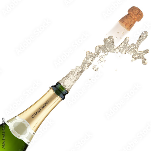 canvas print picture Champagne bottle explosion.