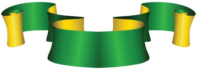 Vintage green and gold ribbon