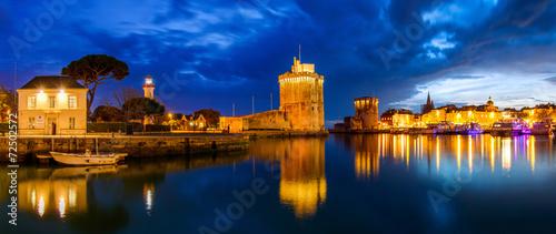 Deurstickers Vestingwerk Panoramique du port de la rochelle