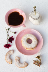 Sesame Seeds Butter Cookies and Coffee
