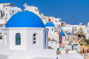 Colorful village of Oia, Santorini, Greece