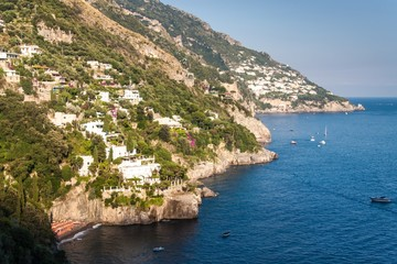 View of villages at Amalfi coast