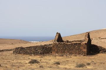 Abandoned house on the island of Fuerteventura